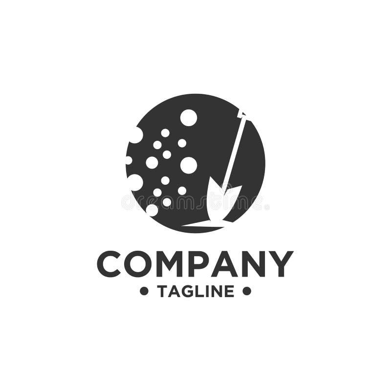 Rydla lub łopaty logo projekt ilustracja wektor