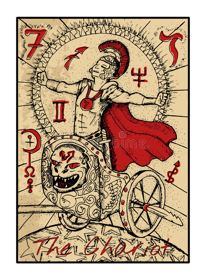 Rydwan Tarot karta ilustracji