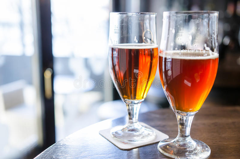 Rye beer and smoked beer royalty free stock photography