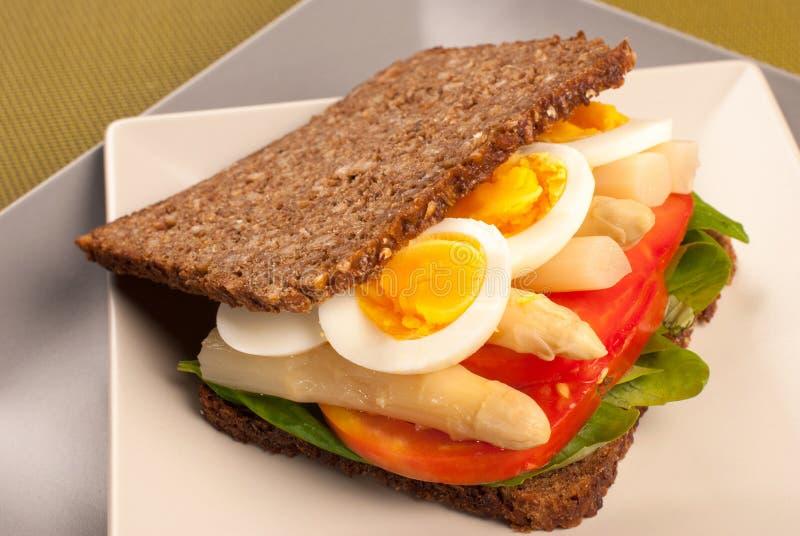 Rye brödsmörgås fotografering för bildbyråer