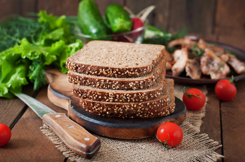 Rye bread with bran royalty free stock images