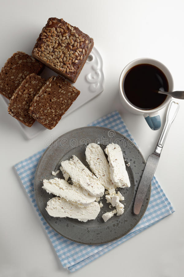 Download Rye Bread, Cheese And Coffee Stock Image - Image: 93754253