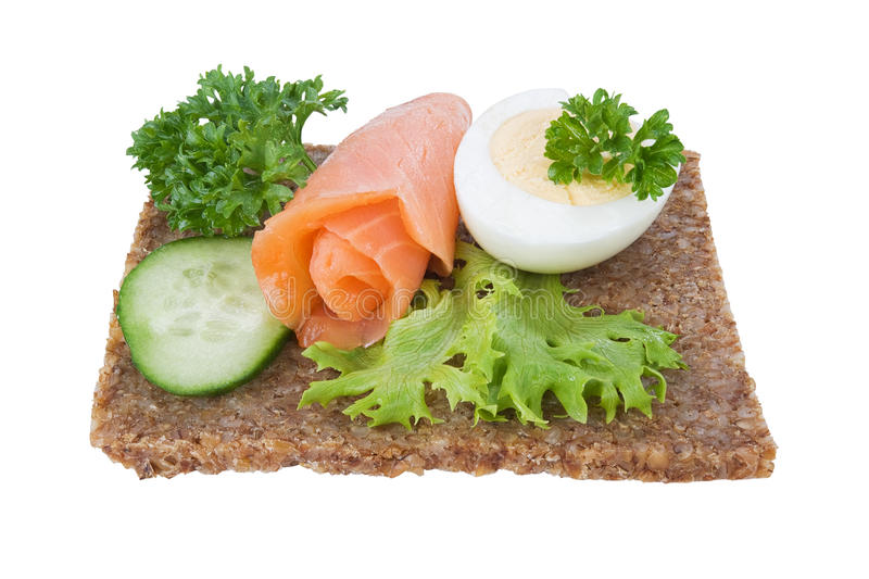 Rye Bread Sandwich Royalty Free Stock Images