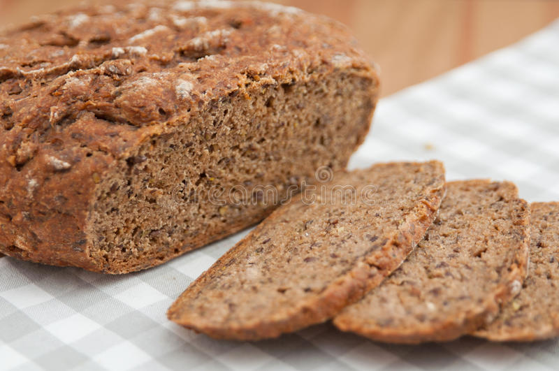 Rye bread with seeds royalty free stock photo