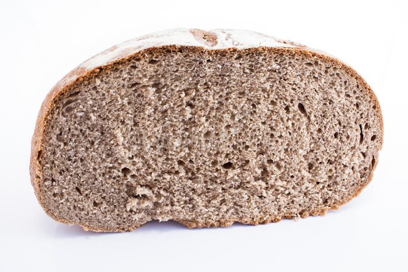 Rye bread on white royalty free stock image