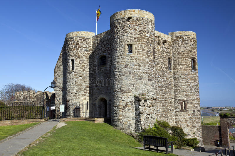 Rye Castle Ypres Tower. A landscape view of Rye Castle Ypres Tower royalty free stock photography