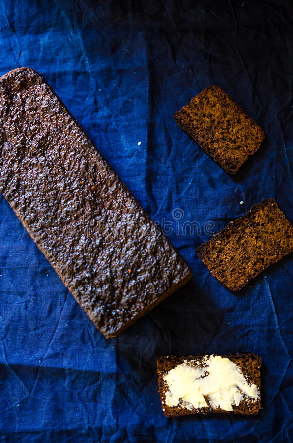 Rye flour and malt bread royalty free stock images