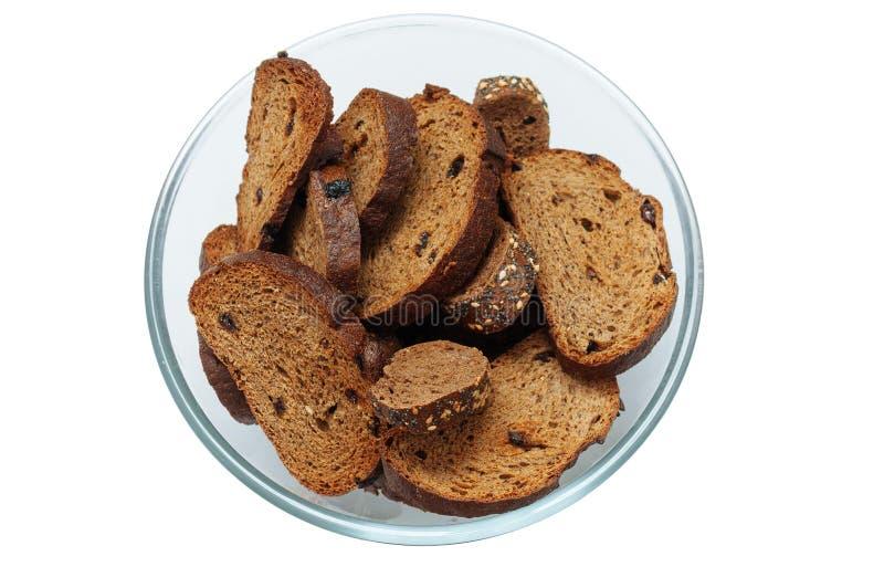 Rye grillant le pain avec des raisins secs photographie stock