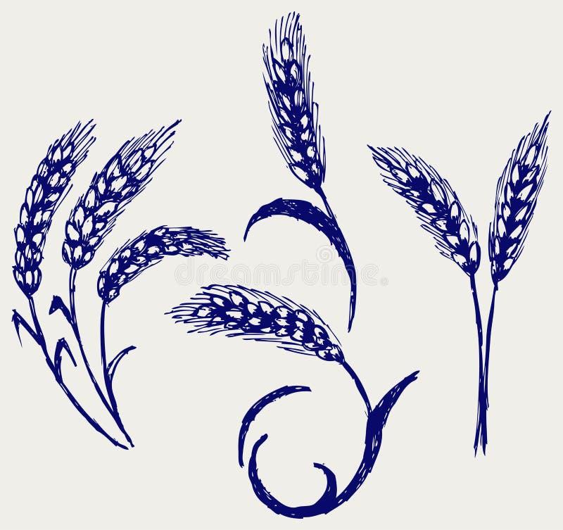 Download Rye sketch stock vector. Image of cartoon, doodle, baguette - 26595885