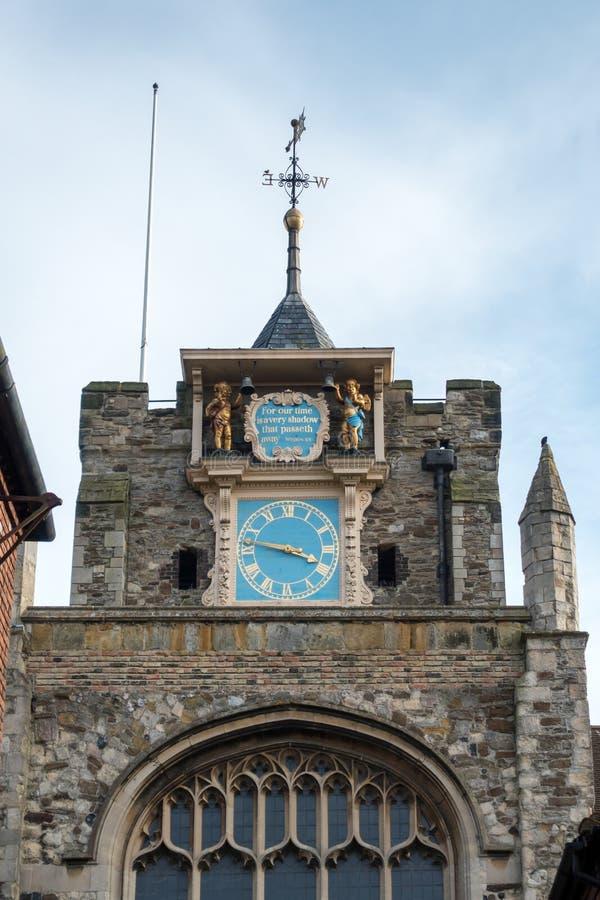 RYE, SUSSEX/UK EST - 11 MARS : L'église paroissiale du Th de St Mary images stock
