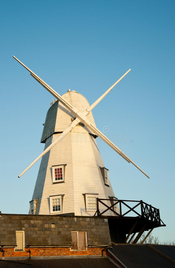 Free Rye Windmill At Sunset Stock Photography - 12331822
