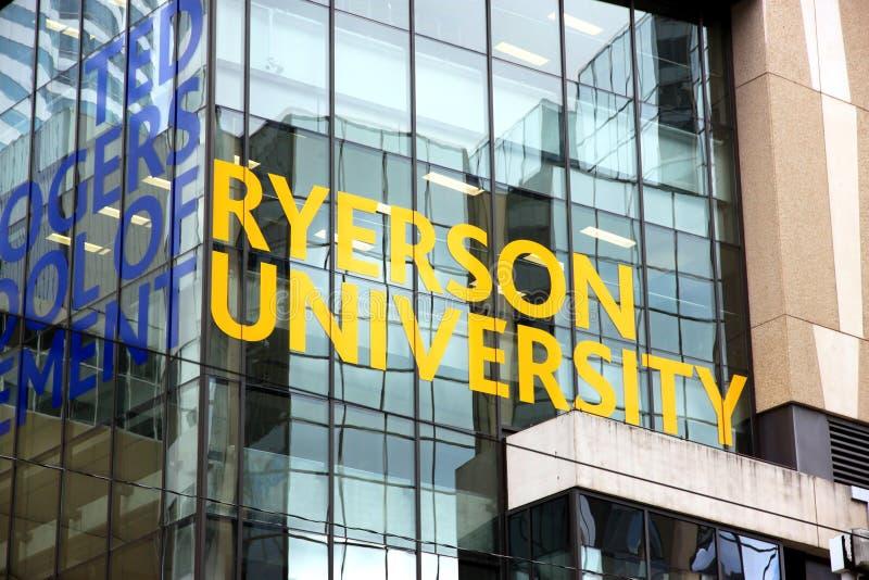 ryerson uniwersytet fotografia stock