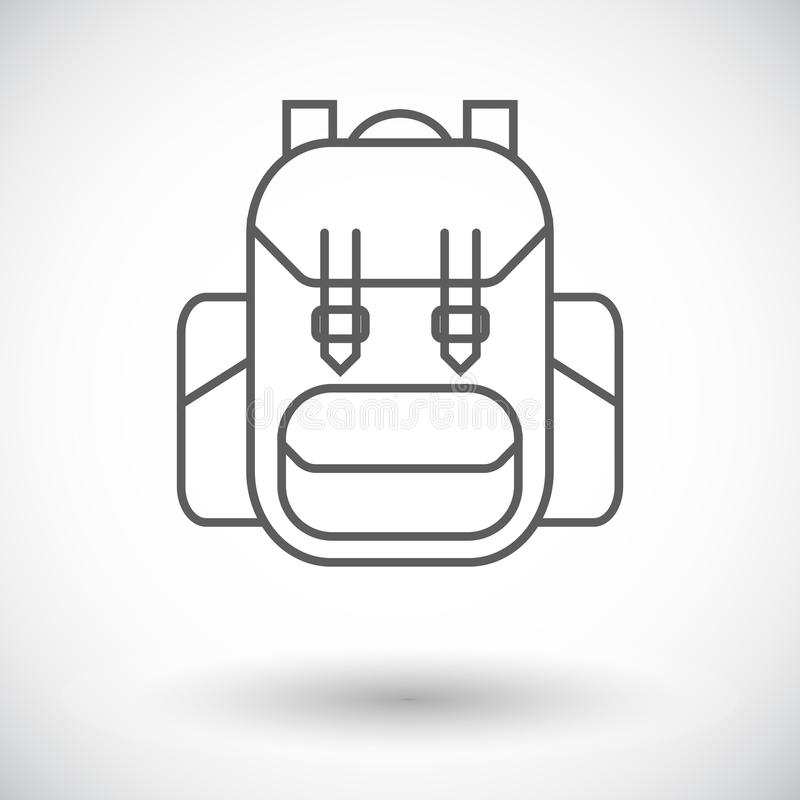 ryggsäck royaltyfri illustrationer