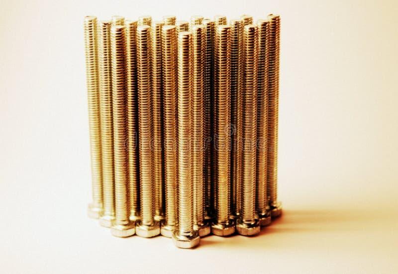 rygiel Metali rygle Grupa metali rygle Naprawianie produkt Sześciokąt głowy rygiel nasiono Hex głowa Metal obrazy royalty free