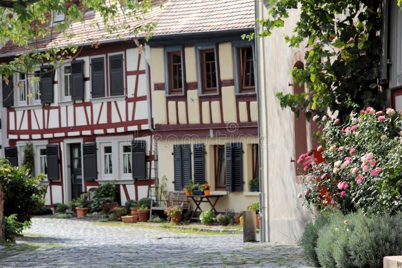Ryglowi domy w Frankfurt magistrala - Am - zdjęcie royalty free