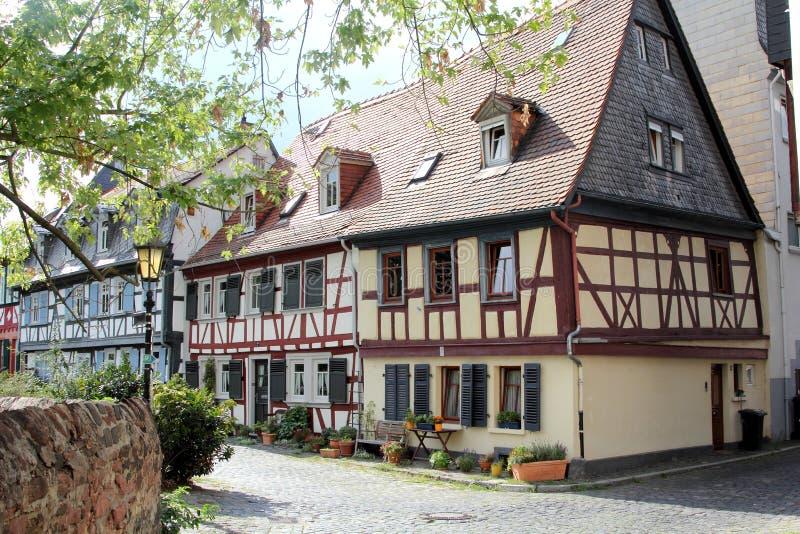 Ryglowi domy w Frankfurt magistrala - Am - zdjęcia royalty free
