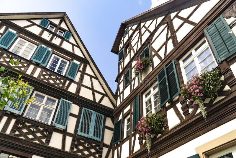 Ryglowy dom w Gengenbach zdjęcie stock