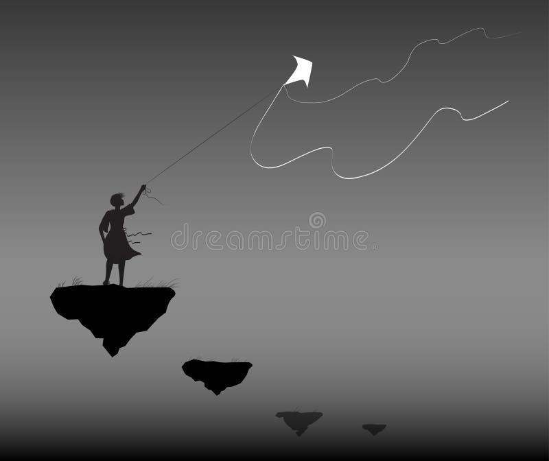 Rym vinden stock illustrationer