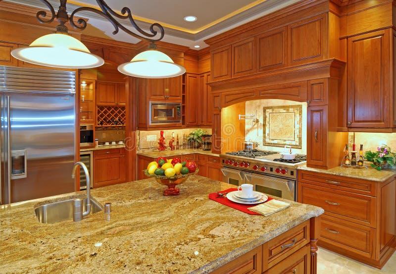rymligt kök fotografering för bildbyråer