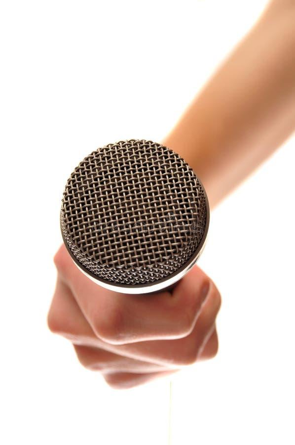 rymma den isolerade mikrofonen vit arkivbilder