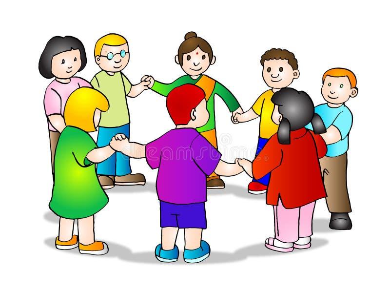 rymma för barnhänder royaltyfri illustrationer