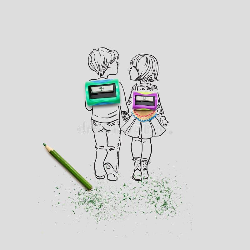rymma för händer stock illustrationer