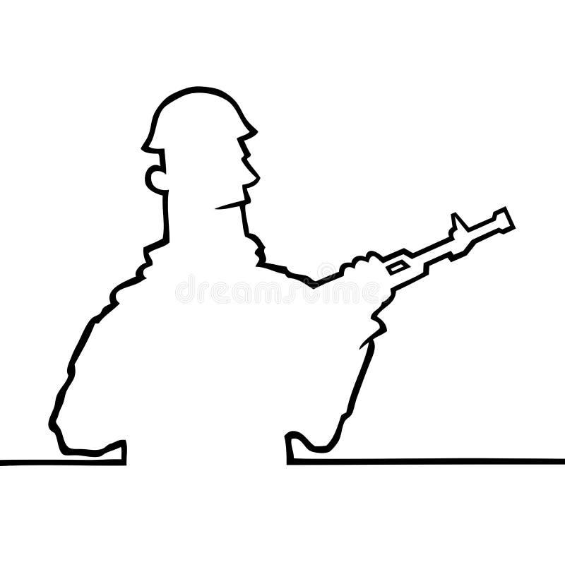 rymma gevärsoldaten royaltyfri illustrationer