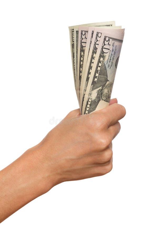 Rymma räkningar för en dollar royaltyfri bild