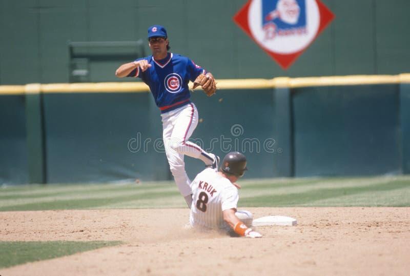 Ryne Sandberg, Chicago Cubs images libres de droits