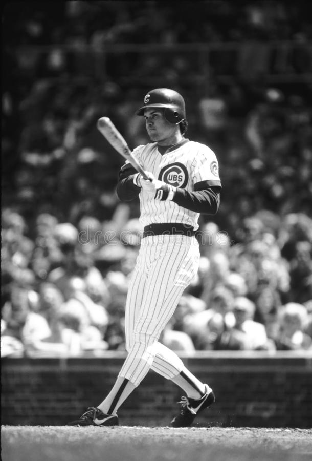 Ryne Sandberg Chicago Cubs fotografía de archivo libre de regalías