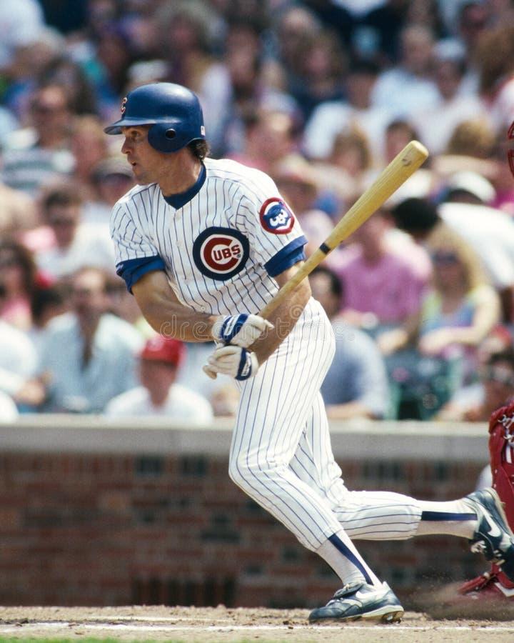 Ryne Sandberg de los Chicago Cubs imagen de archivo