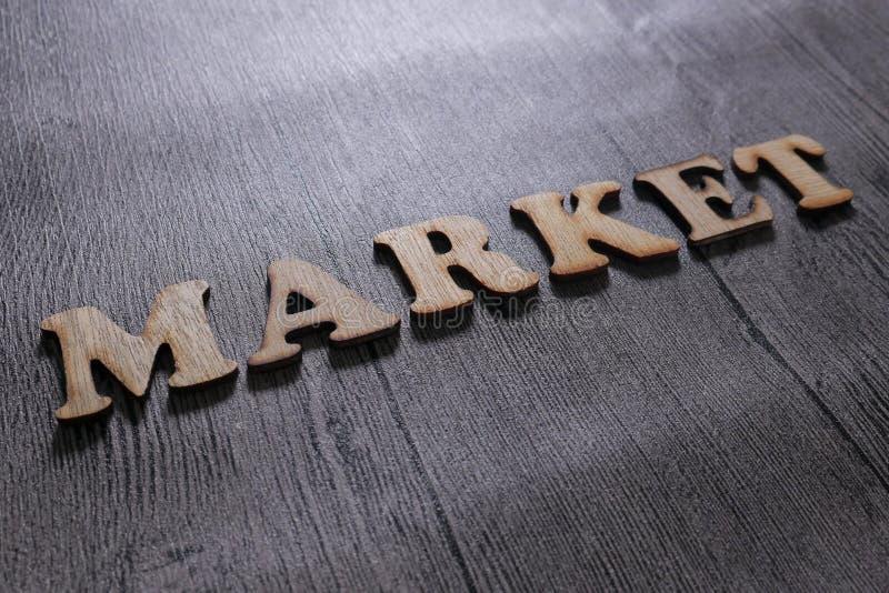 Rynek, Biznesowy Motywacyjny słowo wycen pojęcie obraz royalty free