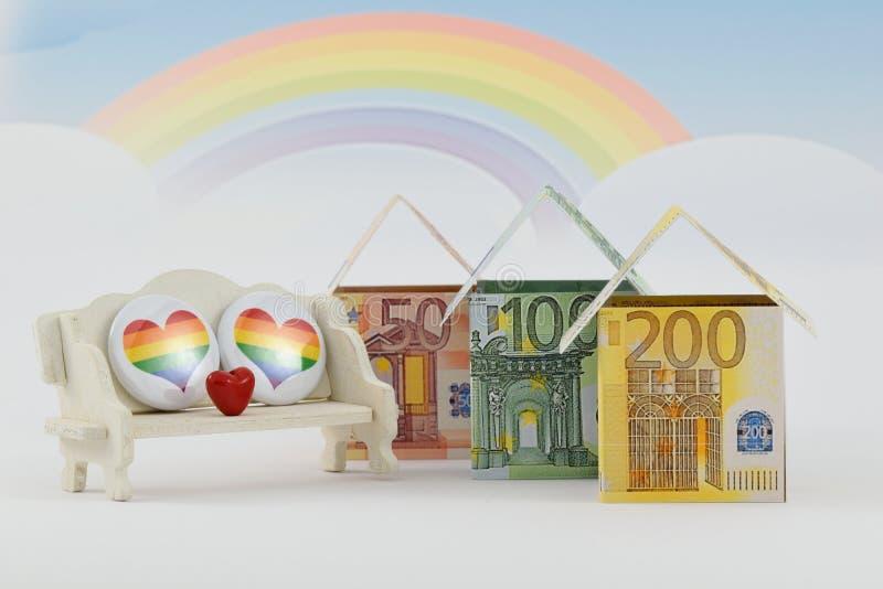 Rynek budownictwa mieszkaniowego, pomyślna przyszłość obrazy stock