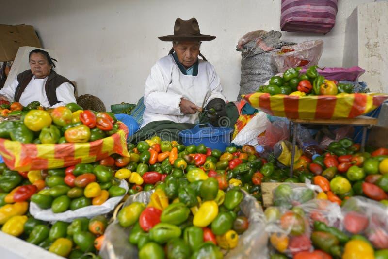 Rynek, Cuzco, Peru fotografia stock