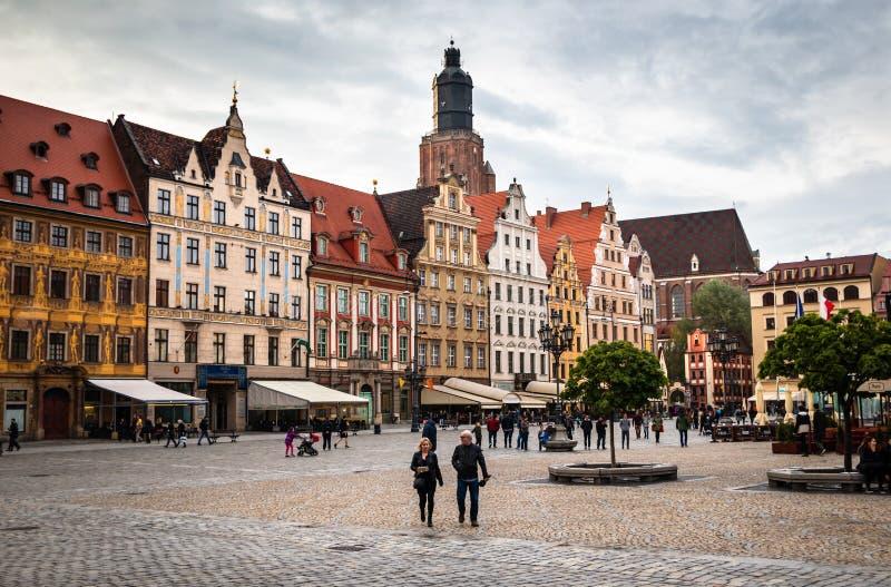 Rynek för fyrkant Wroclaw för central marknad royaltyfria foton
