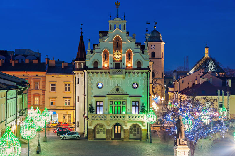 Rynek Glowny in Rzeszow royalty free stock photo