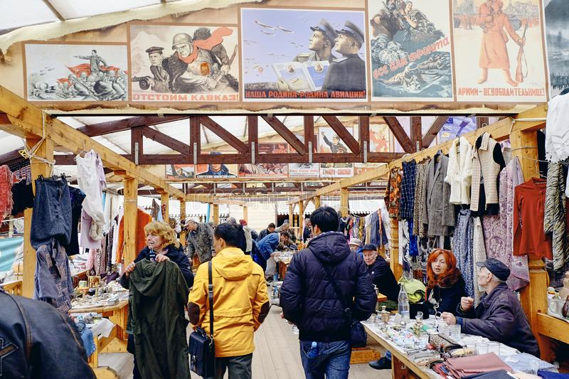 Rynek Izmajłowo w Moskwie, Rosja zdjęcie royalty free