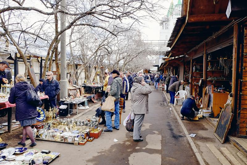 Rynek Izmajłowo w Moskwie, Rosja zdjęcia royalty free