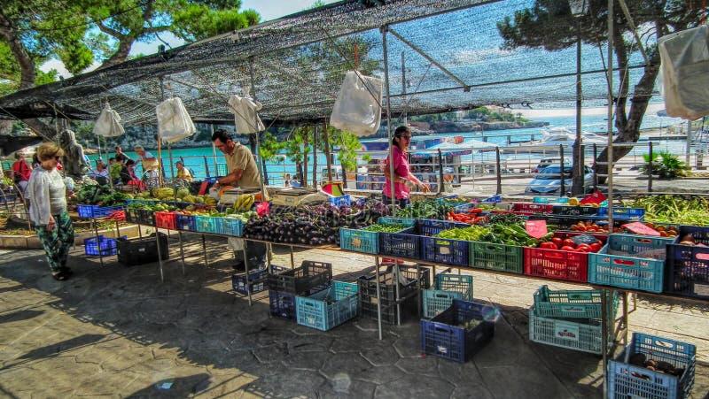 Rynek morzem zdjęcia royalty free