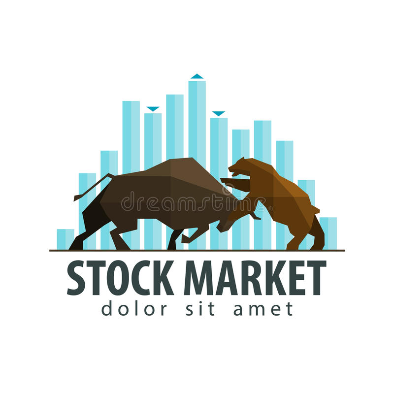 Rynek Papierów Wartościowych, biznesowy wektorowy loga projekta szablon ilustracja wektor