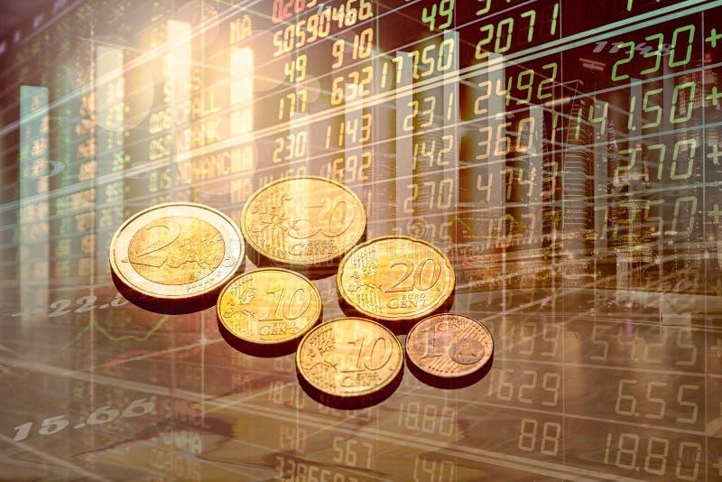 Rynek Papierów Wartościowych lub handlarski wykres candlestick i sporządzamy mapę stosownego dla pieniężnej inwestyci pojęcia ilustracja wektor