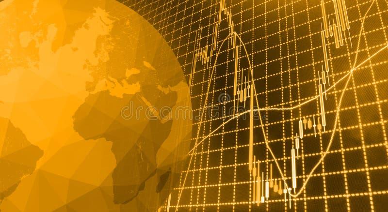 Rynek Papierów Wartościowych przytacza wykres obraz stock