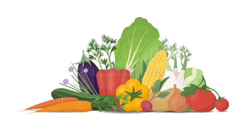rynek produktów rolnictwa świeże warzywa ilustracja wektor