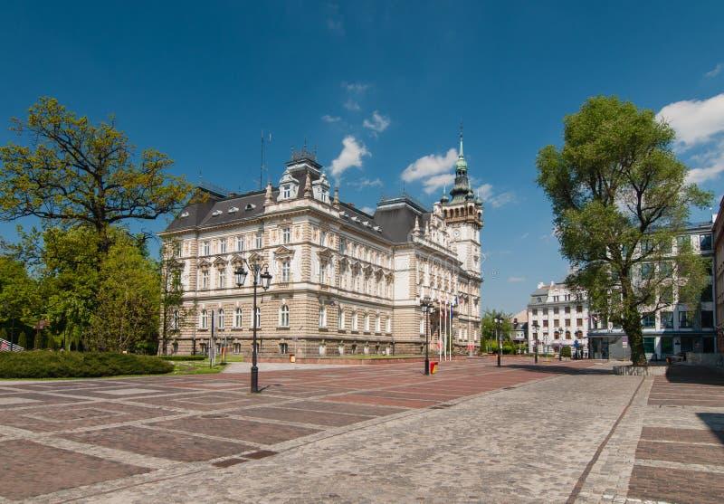 Rynek przed urzędem miasta w bielsku, Polska obraz royalty free