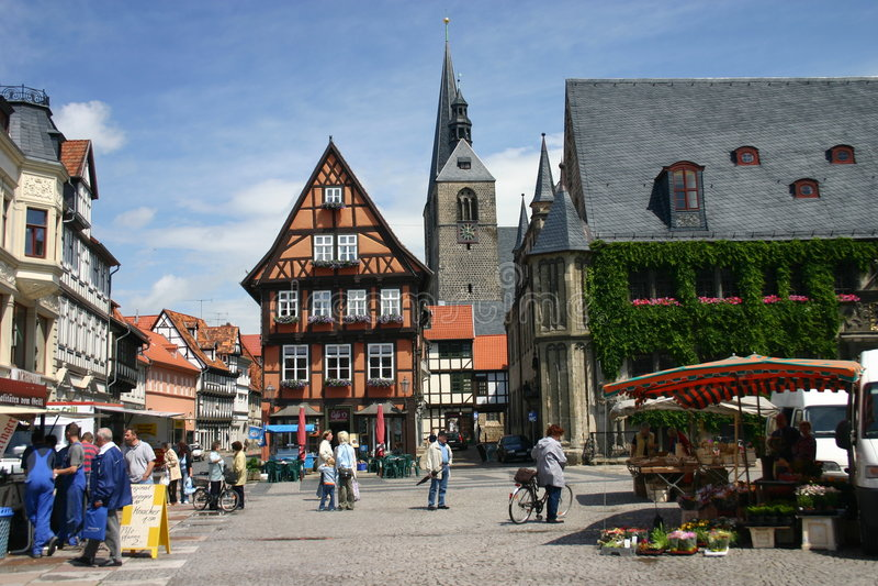 rynek Quedlinburg fotografia royalty free