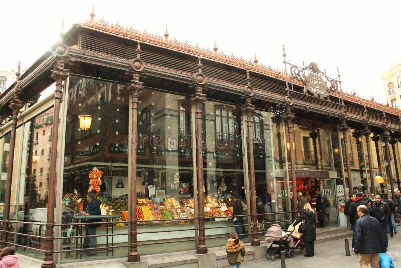 Rynek San Miguel w Madryt, Hiszpania fotografia royalty free