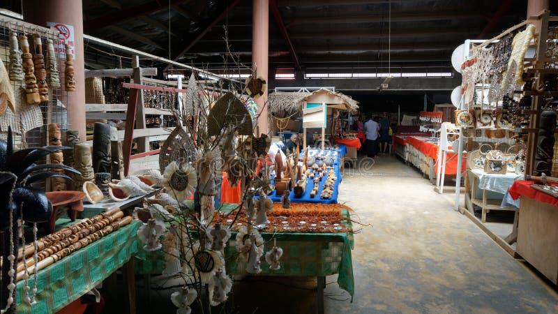Rynek sztuki i rzemiosÅ'a Nuku Alofa, Tonga zdjęcie royalty free