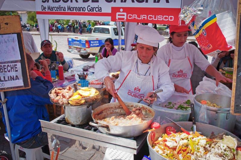 Rynek w Cuzco, Peru fotografia stock