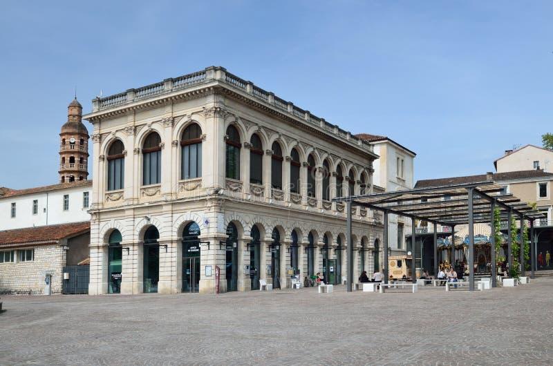 Rynek w Francuskim grodzkim Cahors fotografia stock