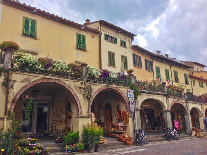 Rynek w Greve, Włochy zdjęcie royalty free